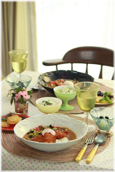 和風親子カレー。 の お昼ごはん。