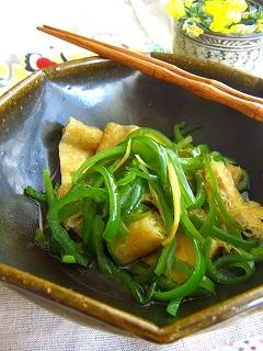 ピーマンの中華風煮浸し。