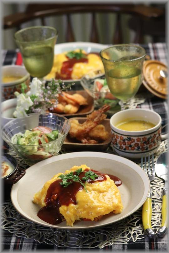【レシピ】ふわとろオムライス・なんちゃってデミグラスソース。と 献立。 MISDO!