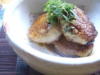 牡蠣と大豆の蓮根餅。