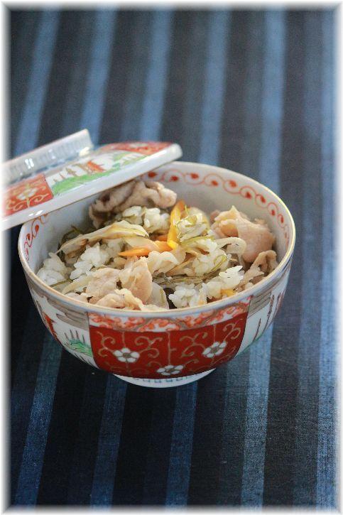 切昆布と豚肉のじゅーしー(沖縄風炊き込みごはん)