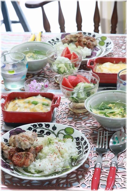 【レシピ・リンク】チキンのバジルソテーごはん。の お昼ごはん。 と お誕生日おめでとう。