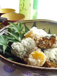 秋刀魚のソース竜田揚げ。