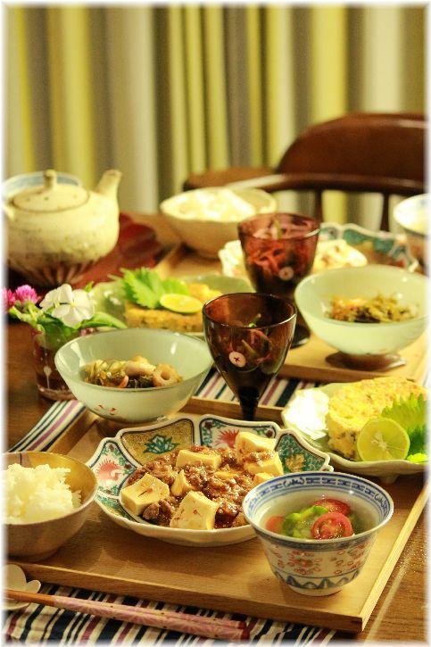 コチュジャン麻婆豆腐。の 献立。
