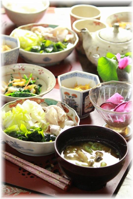豚肉とわかめと白菜
