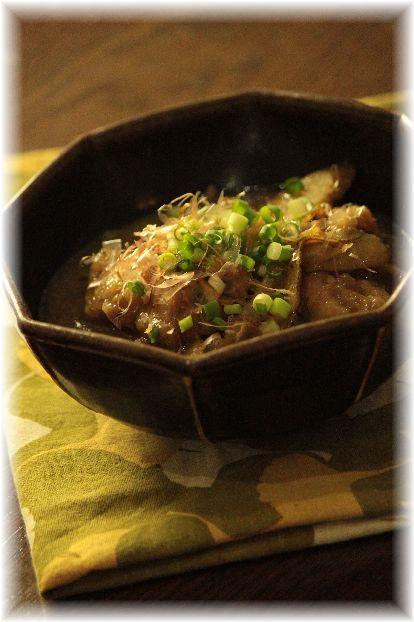 鶏牛蒡の おかかカレー煮。 と 献立。