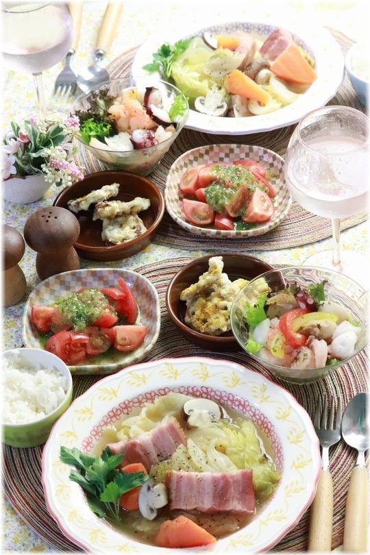 【レシピ】ポトフの献立にぴったりな ピクルスドレッシングのサラダ。と いろいろ色。