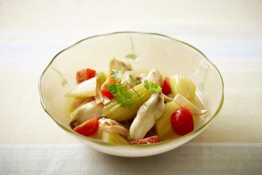 夏野菜の簡単レンチンマリネ