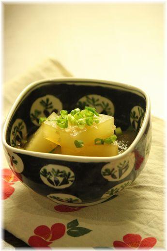 大根の生姜オイスターソース煮。 と献立