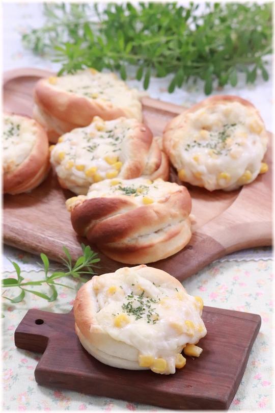 【レシピ】グラタンコーンパン。 と 雪!!!
