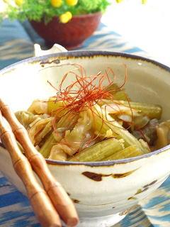 蕗(ふき)のピリカラ煮。