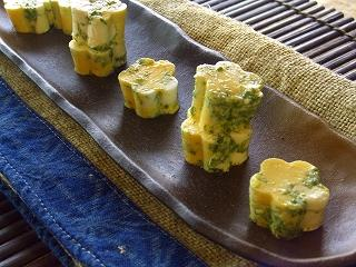青海苔とチーズの卵豆腐。
