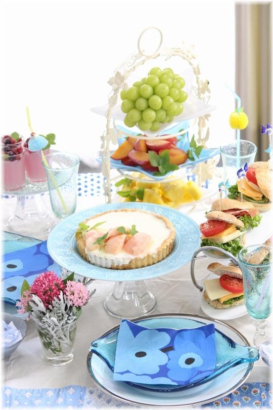【献立】真夏のお茶会。の 献立。と いくつになっても。