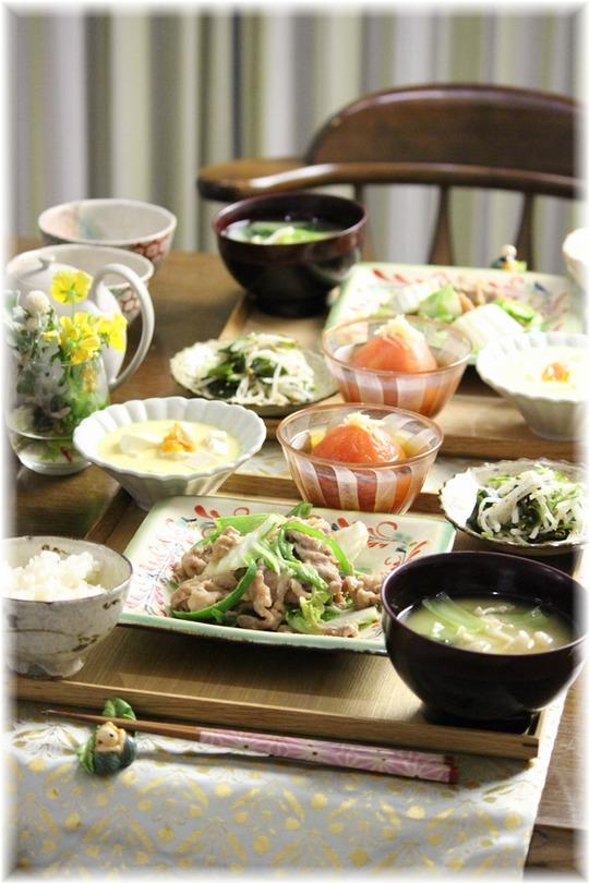 【レシピ】豚肉と白菜の胡麻味噌炒め。と 献立。と 花火大会はどうして寂しいんだろう。