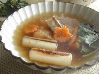 焼き葱と焼きタラのおろしスープ☆ と献立。