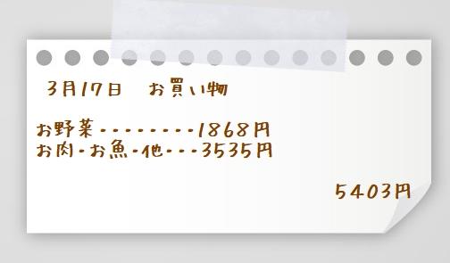 3月17日買い物メモ2