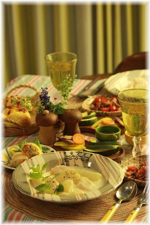 蕪と鮭のシチュー献立。 と 繋がるレシピ。