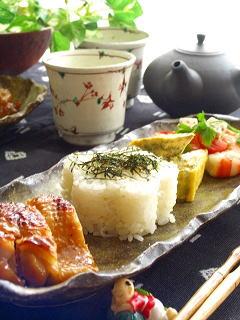 鶏モモの黄身醤油焼き で ワンプレート。~メグミちゃんへ。~