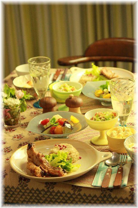 西京スペアリブ。と おから親子サラダ。の 献立。と 繋がりレシピ。