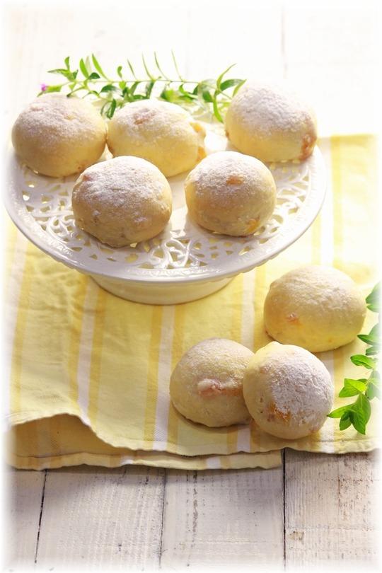 アプリコットとココナッツの白パン。