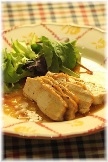 バター醤油の蒸し鶏1YHF