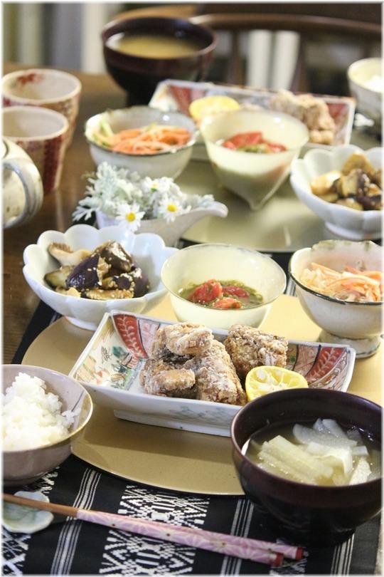 【レシピ】鯖の竜田揚げ。と 献立。と 授業参観は幸せ。