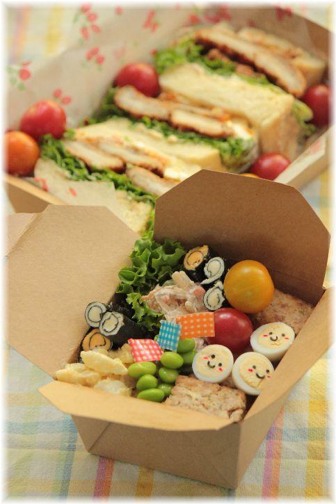 白ミミ・お豆腐食パン。と サンドイッチお弁当。