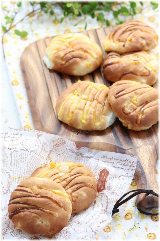 【レシピ】ハニーマヨコーンパン。と パラソルと海と。