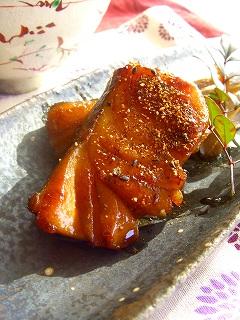 鱈のキンピラ焼き。