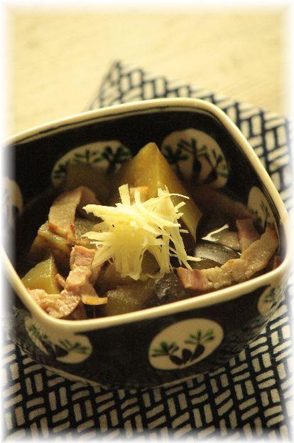 茄子のベーコン生姜煮。 と 秋献立。