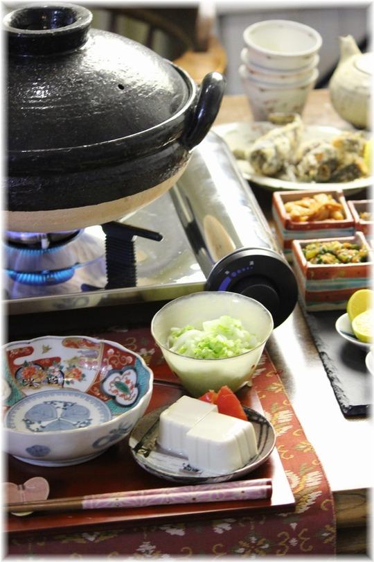 【献立】あんこう鍋。と 献立。 と みんなでつくった食卓。