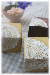 チョコミルクティの真四角パン。