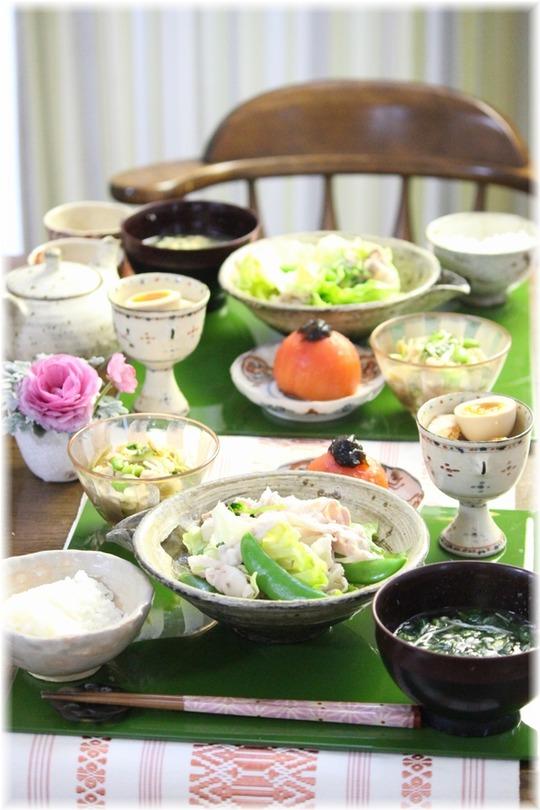 【レシピ】レタスと三つ葉としゃぶしゃぶ肉のしゃきしゃき中華蒸し。と 献立。と 幸せな気持ちの根っこ。