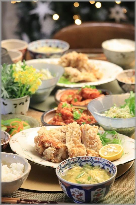 【レシピ】ざくざく油淋鶏。と 献立。と 贅沢な平日。