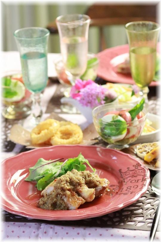 【レシピ】チキンソテー・すりおろしりんごのソース。と 献立。と アオハル!
