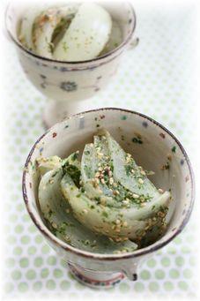 玉ねぎの青海苔味噌煮。 と朝ご飯。
