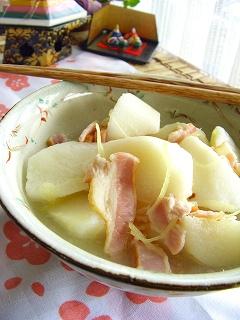 長芋の薄しょうが煮。