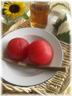 トマトと大葉のにんにく味噌漬け。
