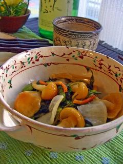 柚子胡椒でトロトロ漬物。