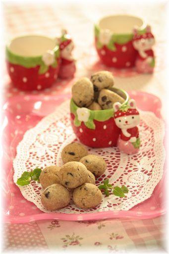 チョコチップころころクッキー。