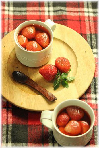 いちご生姜のスープ。