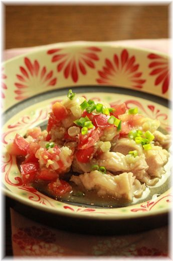 さっぱり味噌トマト蒸し鶏YHF