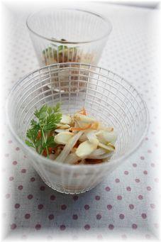 生白菜のノンオイルコールスロー。 と朝御飯。