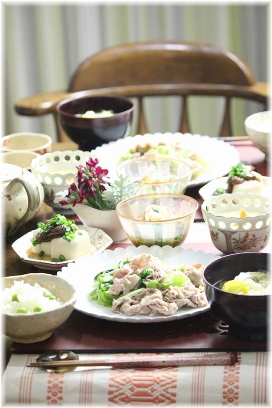 【レシピ】レタスと豚肉の中華炒め。と 献立。と うちのこ。