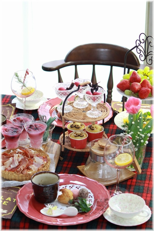 ちょこっと遅いバレンタインDAYっぽいお茶会。