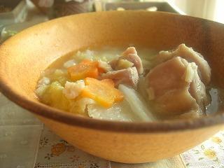 鶏と白菜のホタテ缶煮。 と献立。