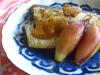 鰯の生姜茗荷煮。 と献立。