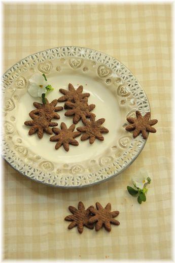 スパイスココアの薄焼きクッキー。
