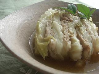 白菜のモチトロ煮。 と献立。