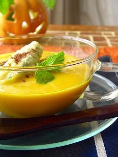 かぼちゃと黒糖のデザートスープ。